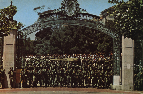 Between 2700 and 3000 National Guardsman occupied the city of Berkeley, CA during the take over of the People's Park in May of 1969. Used by permission of Jeffery Blankfort