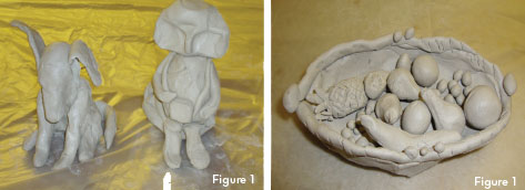 Figure 1: Examples of clay products created by those with Parkinson's disease and their caregivers who attended the clay manipulation workshop at the World Parkinson Congress, Glasgow, Scotland.