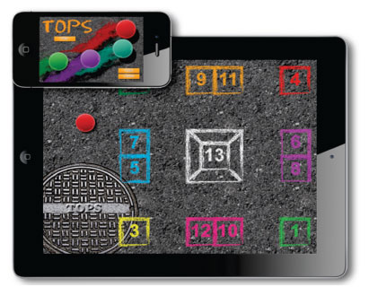 TOPS: A Street Game App for LearningFirst to Third Grade Mathematics
