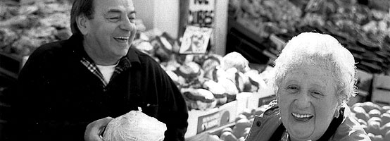 A volunteer assisting with food shopping (Photo courtesy of TimeBanksUSA)