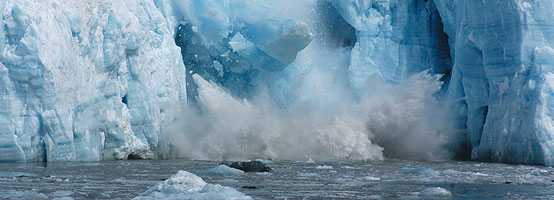 Part of Hubbard Glacier in Alaska is falling into the ocean.