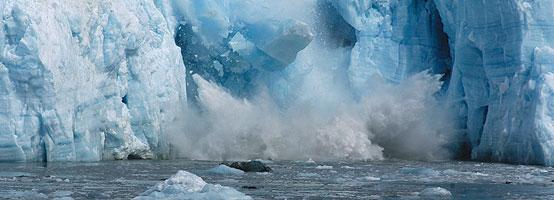 Part of Hubbard Glacier in Alaska is falling into the ocean.