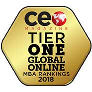 CEO Magazine: Tier One Global Online MBA Rankings 2018