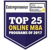 Princeton Review - 2015 - Top 25 online MBA Programs