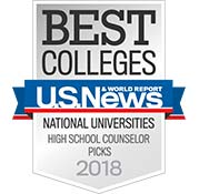 Best Colleges - US News - National Universities - High School Counselor Picks - 2018