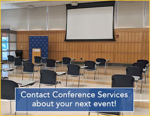 Contact Conference Services about your next event! Email: ConferenceServices@hofstra.edu