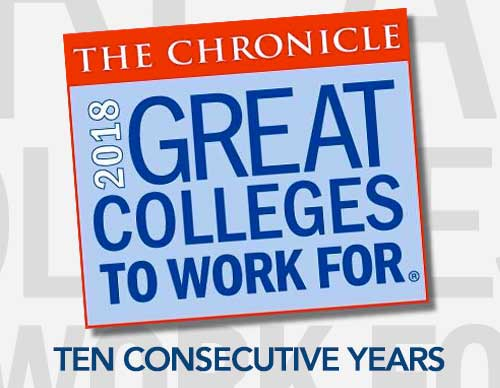 Chronicle - 2017 - Great Colleges to Work For - Nine Consecutive Years