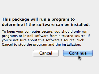 This package will run a program to determine if the software can be installed.