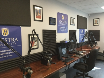 Hofstra SPorts Journalism Audio Studio /