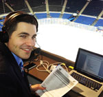 WRHU FM Radio Hofstra University is where student broadcasters get major league experience Pictured above student Kevin Dexter prepares to do color analysis on a NY Islanders radio broadcast. WRHU FM is the flagship station for all NY Islanders games.