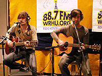 Band performs in WRHU mix site