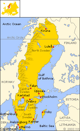 Papers Swedens Iraqi Population Hofstra University New York - Sweden map population