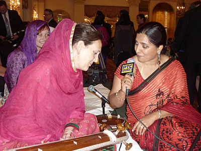 Dr Cassio interviewed by PTC Television Punjab, after the performance at  the Guru Nanak Interfaith Prize, Long Island April 2012