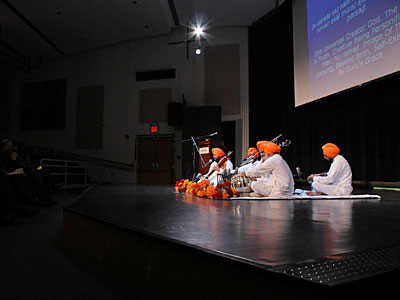 Dr. Gurnam Singh and his group performing at the Helene Fortunoff  Theater, November 2011.