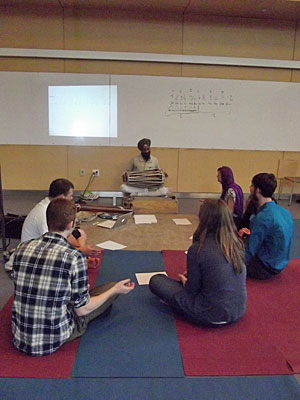 Parminder Singh Bhamra during a workshop at Hofstra University, Spring 2012