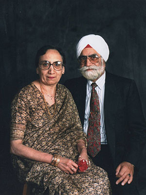 Dr. Hakam Singh and his wife, Harbans Kaur