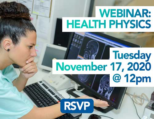 Webinar- Medical Physics: MRI- Guided Radiation Therapy | Wednesday, January 15th 2020 at 12pm  | RSVP