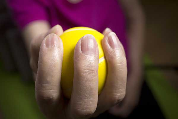 occupational therapy - hand, ball