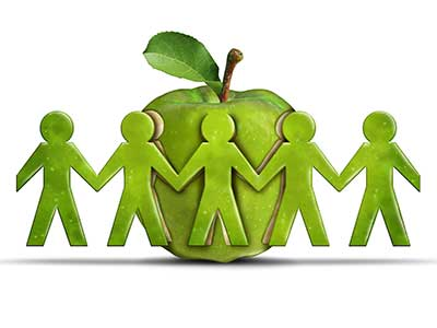 people, green apple