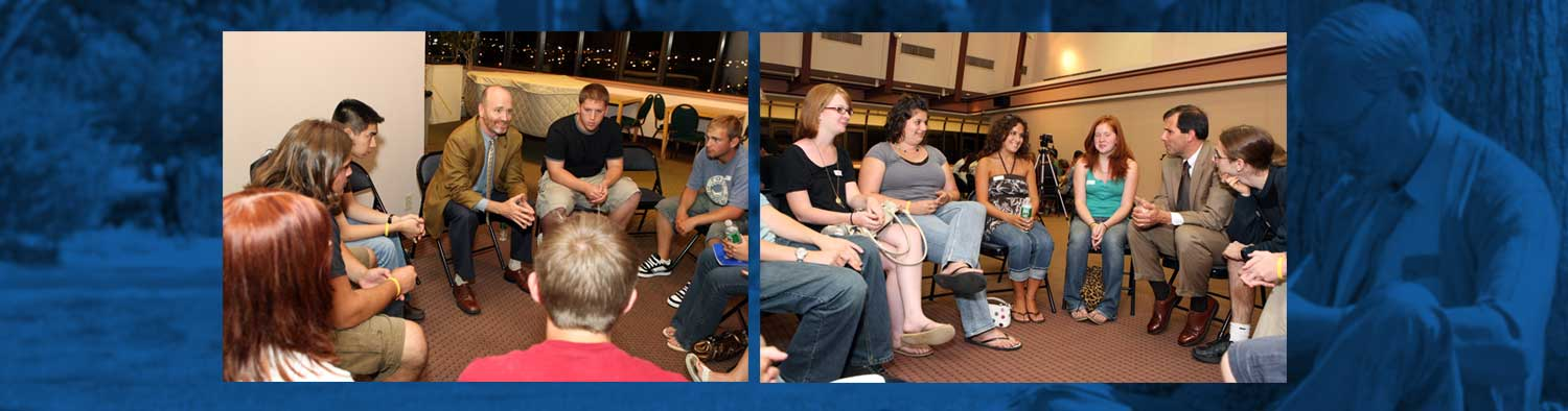 Students in Discussion Groups