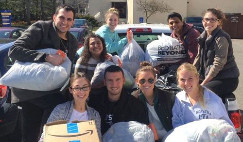 Hofstra PA Program Holds Spring Clothing Drive