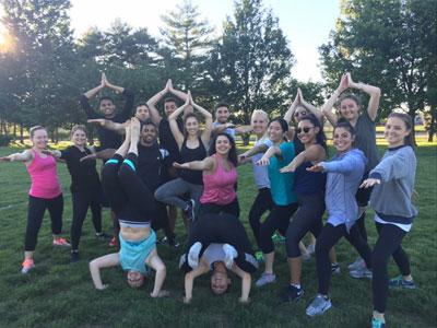 SAAAPA outdoor yoga class