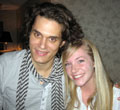 John Mayer with WRHU air talent Lindsay