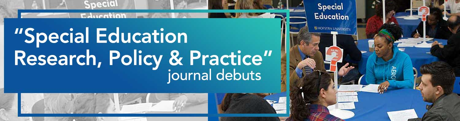 """Special education Research, Policy & Practice"" journal debuts"