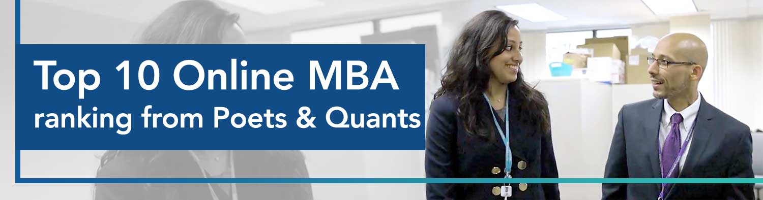 Top Ten Online MBA ranking from Poets and Quants
