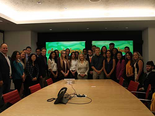 Dean's Business Scholars visited Nickelodeon at Viacom headquarters