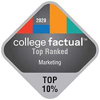 2020 College Factual Top Ranked Marketing 10%