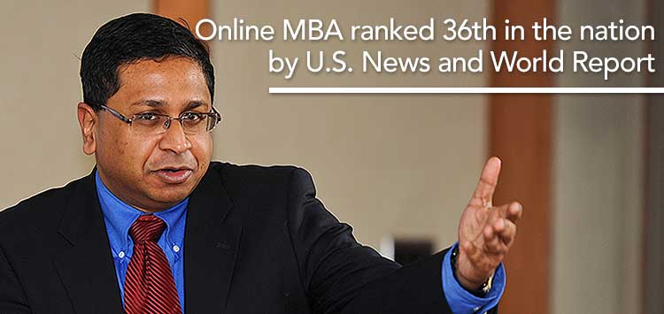 Online MBA ranked #36 in Nation