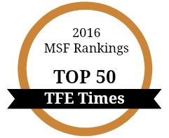 2016 MSF Ranking Top 50 The Financial Engineer