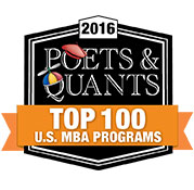 2016 Poets & Quants: Top 100 U.S. MBA Programs