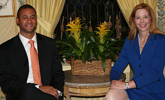Reginald Andre (B.B.A. '04) and  Diane Garnick (B.B.A. '96)