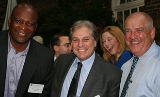 Howard Cross; Eric Schiff and  Bill Agresti (B.B.A. '78)