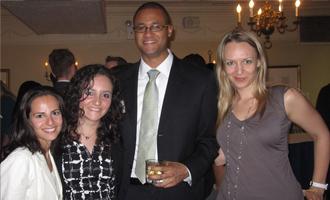 Diana  Ecksler (B.B.A. '04); Inna Nisimov (B.B.A. '05), Reginald Andre (B.B.A.  '04) and Victoria DiStasio (B.B.A. '04)