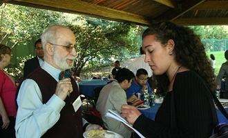 Professor Benny Barak with Zarb  student