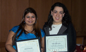 Himani  Sharma (M.B.A. '09) and Nancy Schulman (M.B.A. '09)