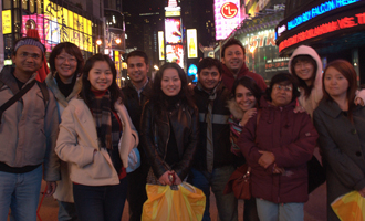 Full-time, day M.B.A. students on trip to New York  City.