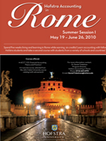 Hofstra Accounting  in Rome Insert Poster