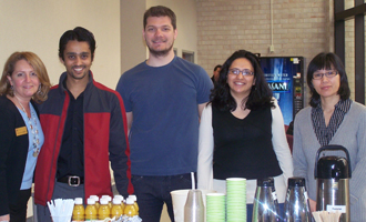 Zarb graduate students with Lisa Kellerman , associate director of Graduate Career Services (far left)