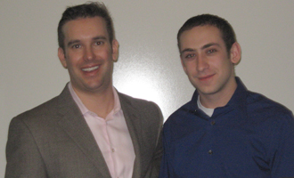 Joel Simkins (B.B.A. '98) and Joseph March (B.B.A. '10)