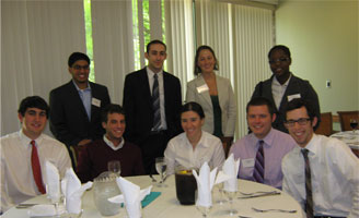 Zarb undergraduate student leaders with Brooke Richartz (B.B.A. '04; M.B.A. '08) (back row; 2nd from right)