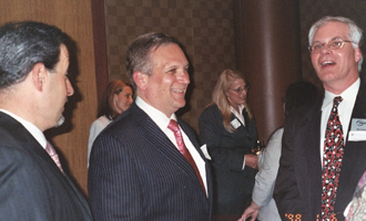Nassau County Executive Edward Mangano (center) with Zarb alumni