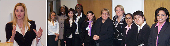 Zarb Women in Business with Barbara Ruguero and Mary Elizabeth Brennan (4th and 5th from right).