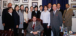 Chinese students who are part of the Frank G. Zarb School of Business M.B.A. class of 2009 are pictured with Dean Salvadore Sodano, Vice Dean Anil Mathur, MBA Program Director Stuart Bass and Luke Ng, director of recruitment for graduate business programs.