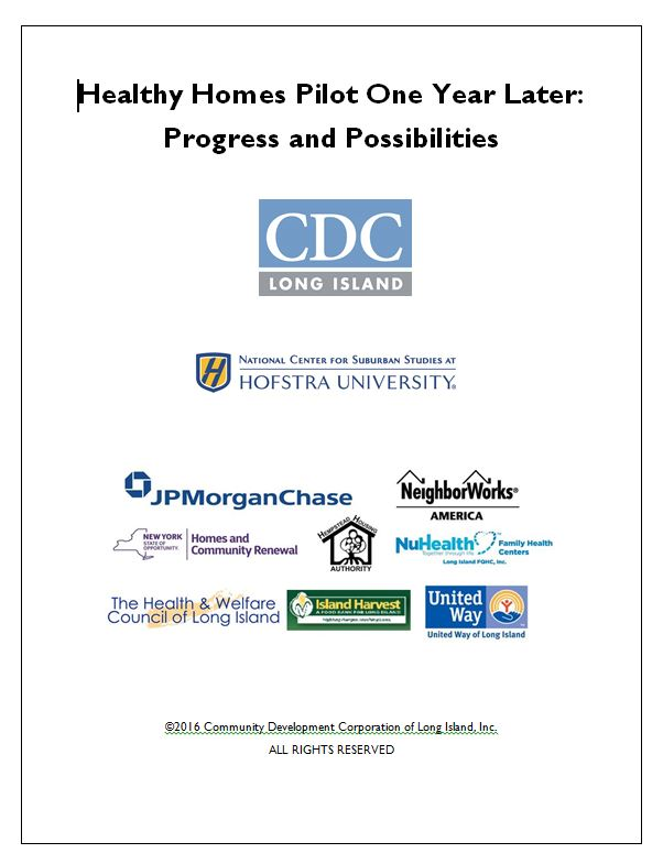 Healthy Homes Pilot report cover