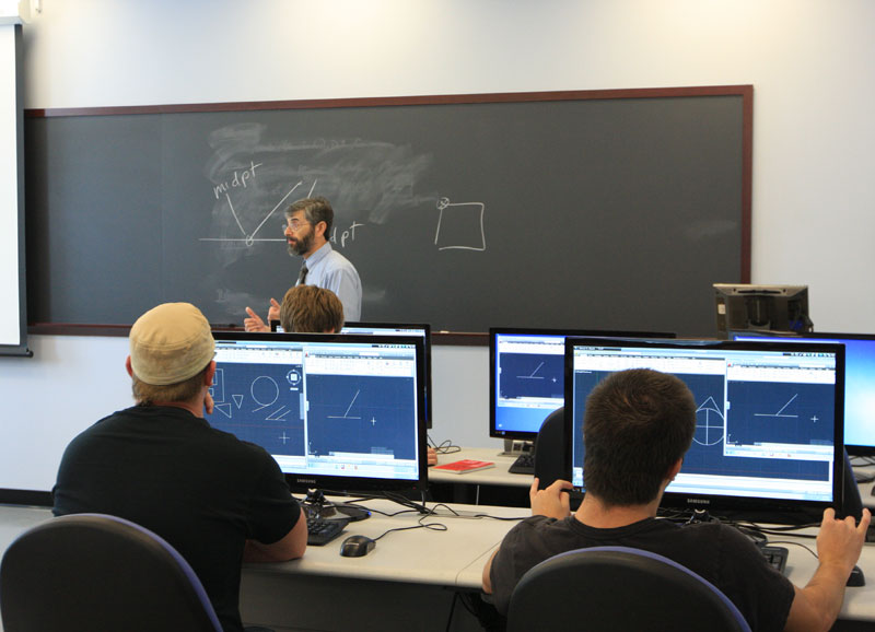 Picture of a computer lab