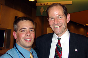 Andrew Falzon '05 with New York State Attorney General Eliot Spitzer